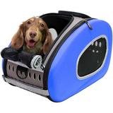 ibiyaya - ibiyaya 5-in-1 Combo EVA Airline-Approved Dog & Cat Carrier & Stroller, Blue