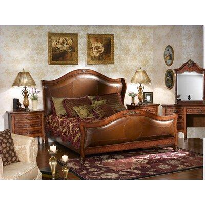 Astoria Grand Labrecque Queen Solid Wood Upholstered Sleigh 5 Piece Bedroom Setupholstered Leather Genuine Leather In Brown Red Wayfair On Wayfair Accuweather Shop