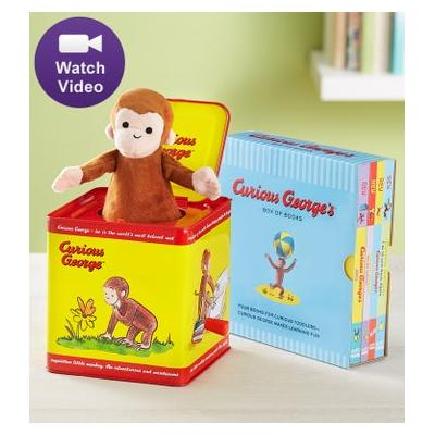 Curious George Jack in the Box & Story Book Collection Jack in the Box & Story Book Collection by 1-800 Flowers