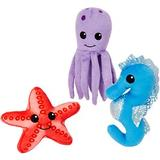 Frisco Hide and Seek Plush Coral Puzzle Dog Toy Refill, 3-count