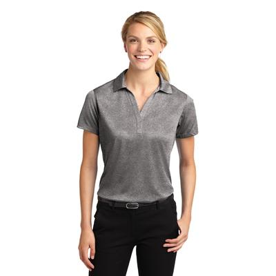 Sport-Tek LST660 Women's Heather Contender Polo Shirt in Vintage size Medium | Polyester