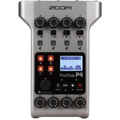 Zoom PodTrak P4 4-input Ultimate Recorder for Podcasting