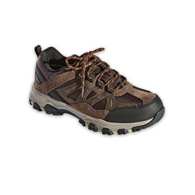Men's Skechers Selmen Enago Leather Shoes, Chocolate Brown 9 Double Wide