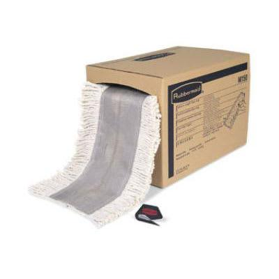 Rubbermaid FGM15000WH00 Select-a-Length Dust Mop Roll - 40' x 5, Cut Ends, White on Sale
