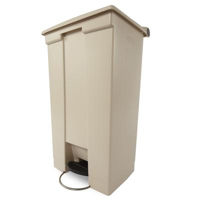 Rubbermaid FG614600BEIG 23 gal Rectangle Plastic Step Trash Can, 19.75L x 16 1/8W x 32.5H, Beige on Sale