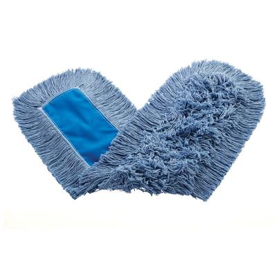 Rubbermaid FGK15500BL00 36 Kut-A-Way Dust Mop Head Only w/ Cut Ends, Blue on Sale