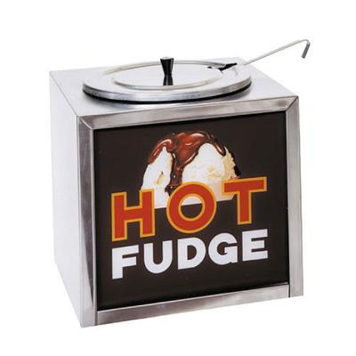 Gold Medal 2200 Dipper-Style Hot Fudge Warmer w/ Oversized Water Tank & Sign, Stainless Cabinet on Sale