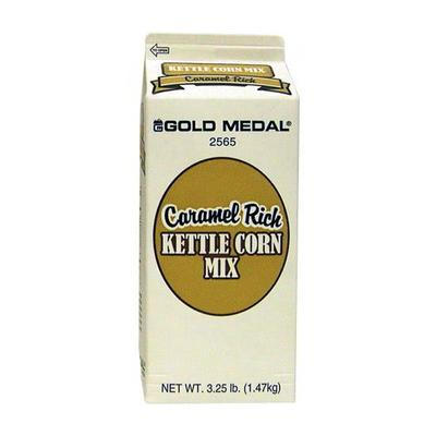 Gold Medal 2565 3.25 lb Caramel Rich Kettle Corn Mix, 6/Case on Sale