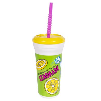 Gold Medal 5306 32 oz Lemonade Original Disposable Cups w/ Lids & Straws, 200/Case on Sale