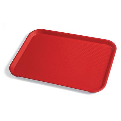 Cambro 1014FF163 Plastic Fast Food Tray - 13.5L x 10.4W, Red on Sale
