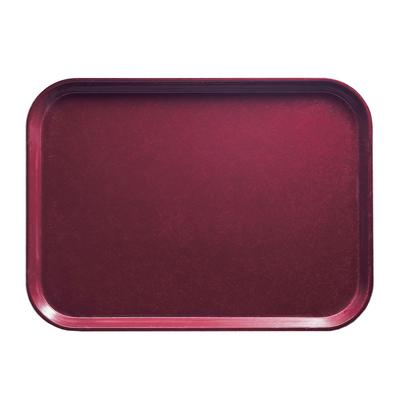 Cambro 1418522 Fiberglass Camtray Cafeteria Tray - 18L x 14W, Burgundy Wine on Sale