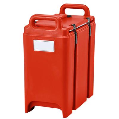 Cambro 350LCD158 3.3 gal Camtainer Insulated Beverage Dispenser, Hot Red on Sale