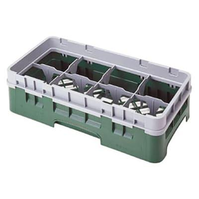 Cambro 8HS638416 Camrack Glass Rack - Half Size, (3)Extenders, 8 Compartments, Cranberry on Sale