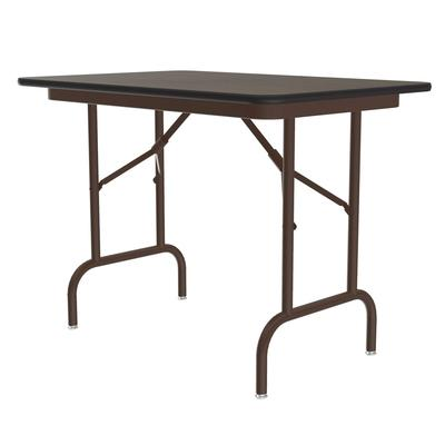 Correll CF2448PX 01 Folding Table w/ 3/4 Walnut High-Pressure Top, 24 x 48 on Sale