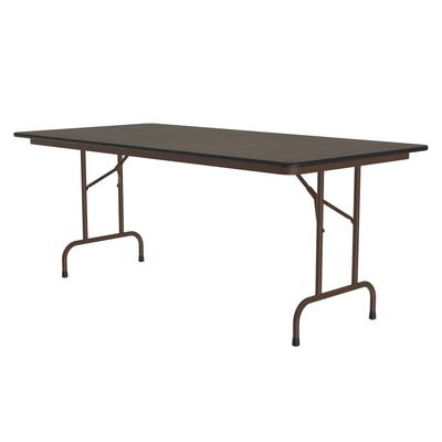 Correll CF3696PX 01 Folding Table w/ 3/4 Walnut High-Pressure Top, 36 x 96 on Sale