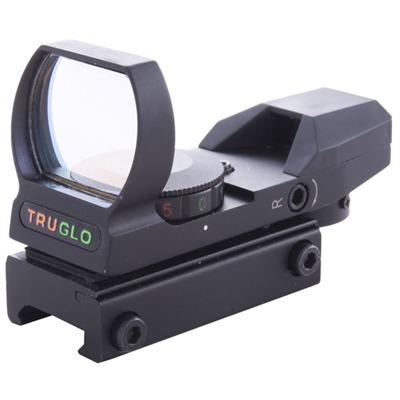 Truglo Open Red Dot Sight - Multiple Reticle/Dual Color Open Red Dot Sight
