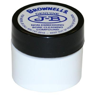 The original, time-proven formula developed by Jim Brobst and produced under exclusive license. J-B has been getting burned-on, caked-in powder residue and copper jacket fouling out of gun barrels since the 1960\\\'s, and hasn\\\'t damaged an inch of rifling...