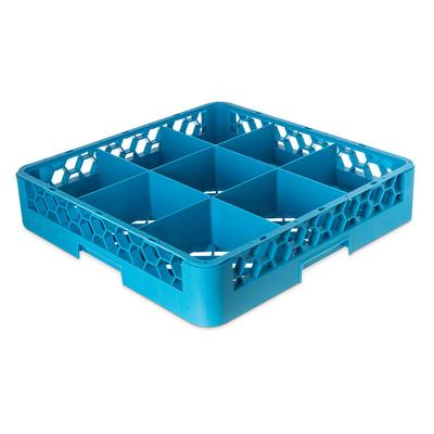 Carlisle RG914 Full-Size Dishwasher Glass Rack w/ (9) Compartments, Blue on Sale