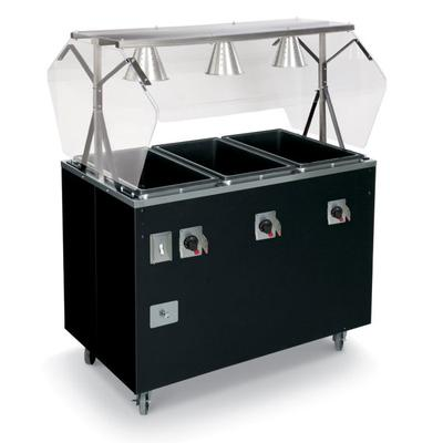 Vollrath T38768464 3 Well Hot Food Station - Lights, Open, Thermostat, Manifold, Cherry 120/208 240v on Sale