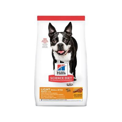 Hill's Science Diet Adult Light Small Bites With Chicken Meal & Barley Dry Dog Food, 5-lb bag