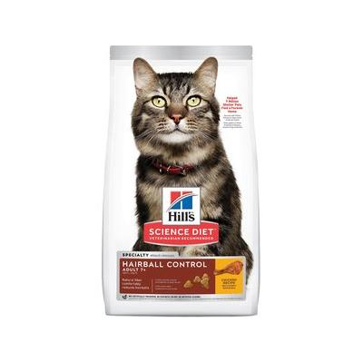 Hill's Science Diet Adult 7+ Hairball Control Dry Cat Food, 3.5-lb bag