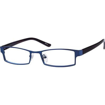 Zenni Mens Classic Rectangle Prescription Glasses Blue Frame Plastic 830516