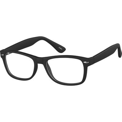 Zenni Square Prescription Glasses Black Plastic Frame