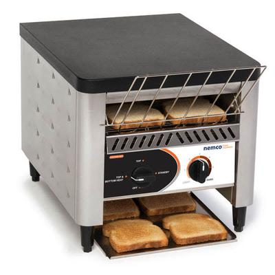 Nemco 6800 Conveyor Toaster - 300 Slices/hr w/ 2 Product Opening, 120v on Sale