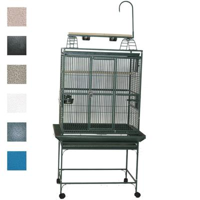 "A&E Cage Company 32"" X 23"" Play Top Bird Cage in Sandstone, Tan"