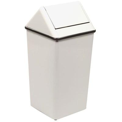 Witt 1411HTWH 21 gal Indoor Decorative Trash Can - Metal, White on Sale