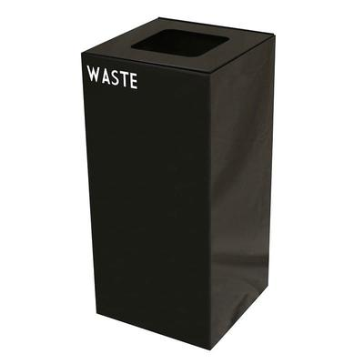 Witt 32GC03-CB 32 gal Indoor Decorative Trash Can - Metal, Charcoal on Sale