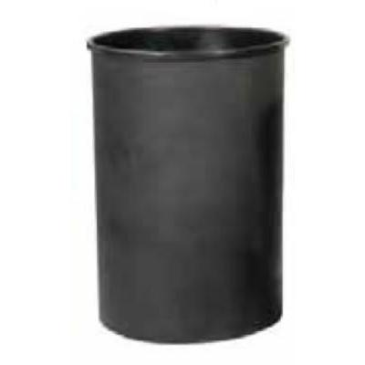 Witt 55LBK-R 25 gal Half Round Rigid Trash Can Liner, Plastic - Black on Sale