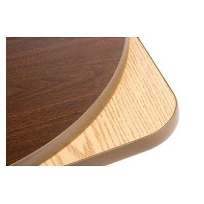 Oak Street OW48R 48 Round Reversible Table Top w/ T-Mold Edge, Oak & Walnut on Sale