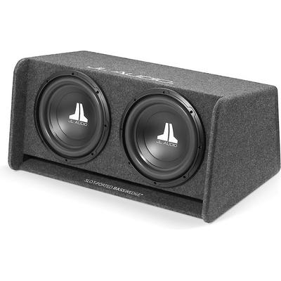 "JL Audio CP212-W0V3 Dual 12"" Ported Enclosure,gray carpet"