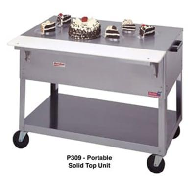 Duke P311 72 3/8 Portable Solid Top Steamtable w/ Carving Board & Fixed Brackets on Sale