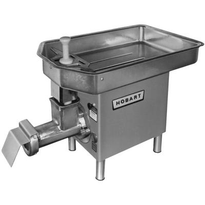 Hobart 4732A-10-STD # 32 Meat Chopper with Removable Feed Pan - 3 hp