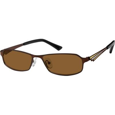 Zenni Men's Sunglasses Brown Stainless Steel Frame
