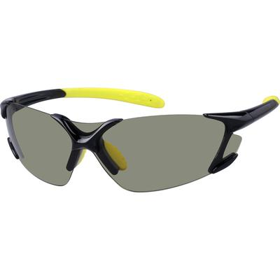 Zenni Mens Sporty Sunglasses Black Frame Other Plastic A10160421