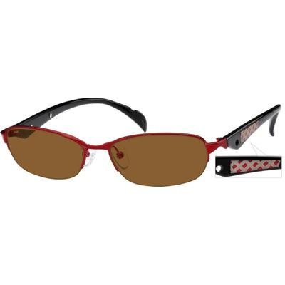 Zenni Womens Sunglasses Red Frame Mixed Materials A8761418
