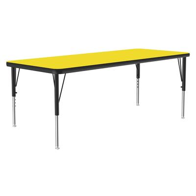 Correll A2436-REC 38 Activity Table w/ 1.25 High Pressure Top, 36W x 24D, Yellow on Sale