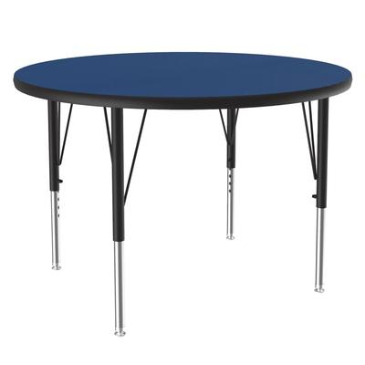 Correll A42-RND 37 42 Round Table w/ 1.25 High Pressure Top, Blue on Sale