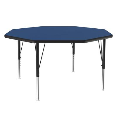 Correll A48-OCT 37 48 Octagonal Table w/ 1.25 High Pressure Top, Blue on Sale