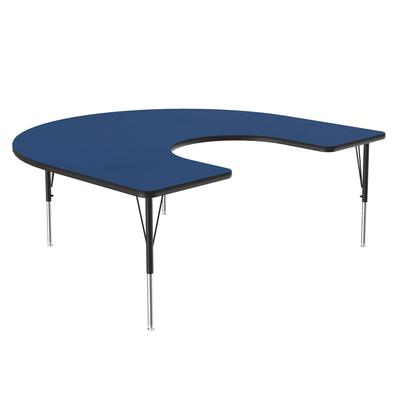 Correll A6066-HOR 37 Activity Table w/ 1.25 High Pressure Top, 66W x 60D, Blue on Sale