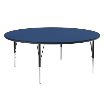 Correll A60-RND 37 60 Round Table w/ 1.25 High Pressure Top, Blue on Sale