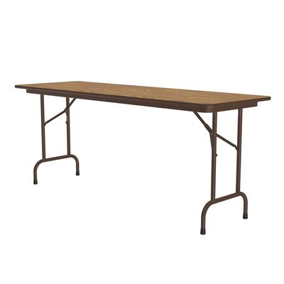Correll CF2472M 06 Melamine Folding Table w/ 5/8 High Density Top, 24 x 72, Medium Oak on Sale