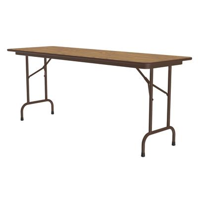 Correll CF2496M 06 Melamine Folding Table w/ 5/8 High Density Top, 24 x 96, Medium Oak on Sale