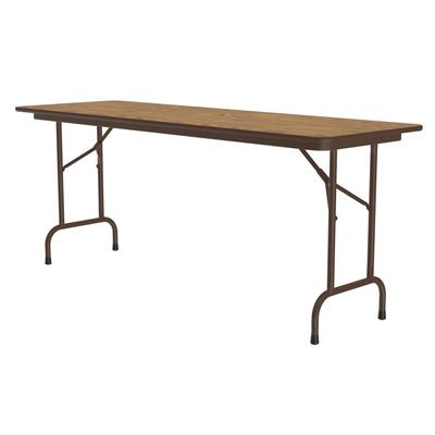 Correll CF2496PX 06 Folding Table w/ .75 High-Pressure Top, 24 x 96, Oak on Sale