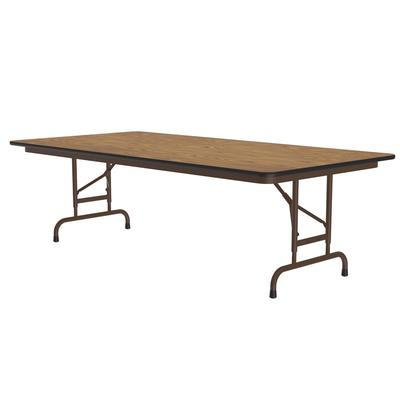 Correll CFA3060PX06 Folding Table w/ .75 High-Pressure Top, Adjustable Height, 30 x 60, Oak on Sale