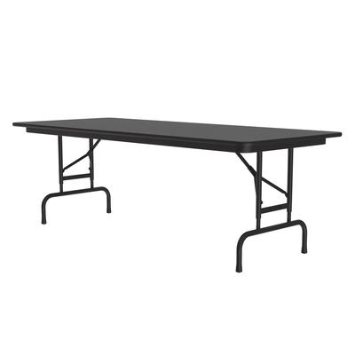 Correll CFA3072PX07 Folding Table ,.75 Top, Adjustable Height, 30 x 72, Black Granite on Sale