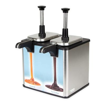Server 85899 Double Food Warmer w/ Stainless Pumps, Countertop Dispenser